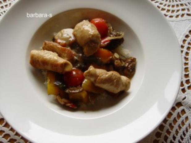 Fleisch - Gerichte: Saltimbocca  von der Pute - Rezept - Bild Nr. 4