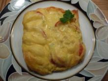 Tomatenbrot mit Käse überbacken - Rezept