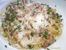 Steinpilzsoße an Spaghetti - Rezept