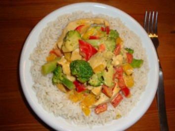 Hähnchen trifft Gemüse & Pfeffer - Rezept