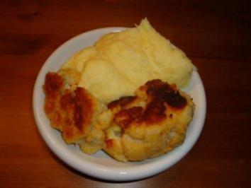 Blumenkohl paniert mit Kartoffelpüree - Rezept