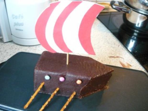 Wikinger- Schiff- Kuchen - Rezept - Bild Nr. 2