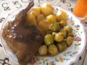 Entenkeulchen  in Hagebutten- Rotweinsoße - Rezept