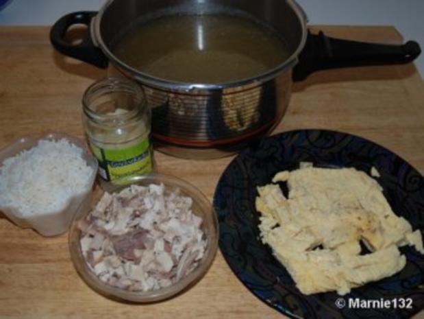 Hühnersuppe mit Einlagen - Rezept - Bild Nr. 6