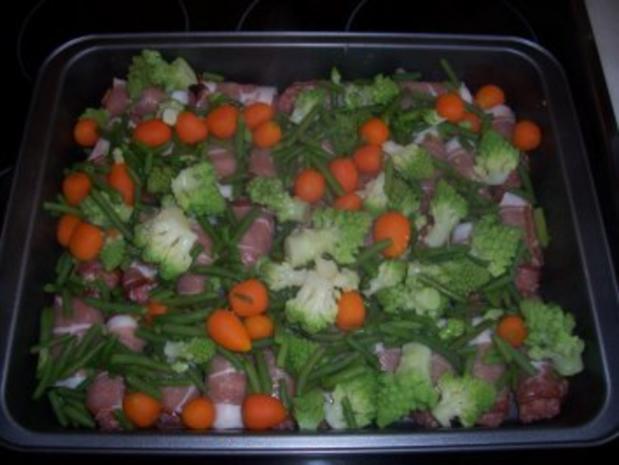 Hackfleisch...Mettröllchen im Gemüsebett - Rezept - Bild Nr. 4