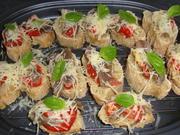 Überbackene Sardellen Tomaten Baguettes - Rezept - Bild Nr. 1360