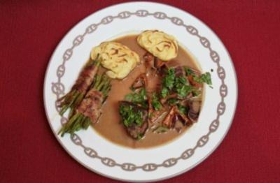 Boeuf Bourguignon, grüne Bohnen provençale und Sellerie-Kartoffelpüree (Ralph Morgenstern) - Rezept
