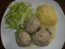Fleisch:   KÖNIGSBERGER KLOPSE...  an Kapernsauce - Rezept