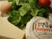 Spinat- Ricotta- Nocken mit geschmelzten Tomaten - Rezept