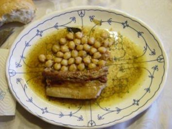 Ceci in umido con Carne- Geschmorten Kichererbsen mit Fleisch - Rezept