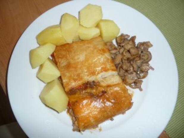 Hackfleisch - Schafskäse - Strudel - Rezept - Bild Nr. 2