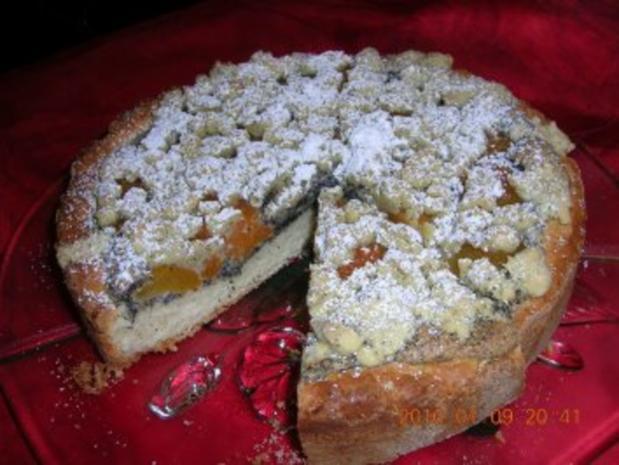 Aprikosen-Mohn-Kuchen - Rezept