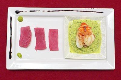 Tunfisch-Sashimi mit beschwipstem Tiger Prawn - Rezept