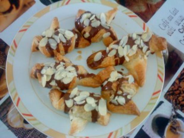 Mini Croissants mit Schokolade - Rezept