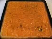 BLECHKUCHEN - Quarkkuchen mit Mandarinendecke - Rezept