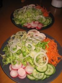 Fitness-Salatteller mit Hähnchenstreifen - Rezept