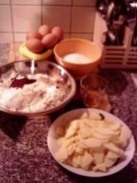 beschwipster Apfel-Nusskuchen - Rezept