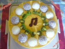 Torte: Tropische Windbeuteltorte - Rezept