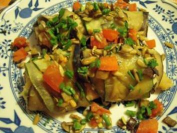 Auberginen-Zucchini-Rouladen - Rezept