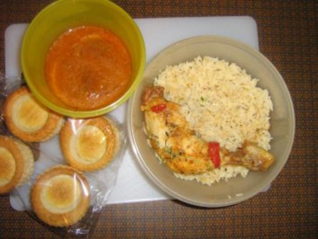 Königin Pastete mit Paprika-Reis-Hähnchen Füllung - Rezept - Bild Nr. 2