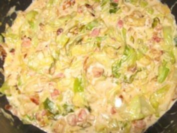 Rezept: Spitzkohl in Sahnesoße  Lactosefrei