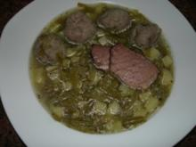 Suppe:    SCHNITTBOHNENSUPPE - Rezept