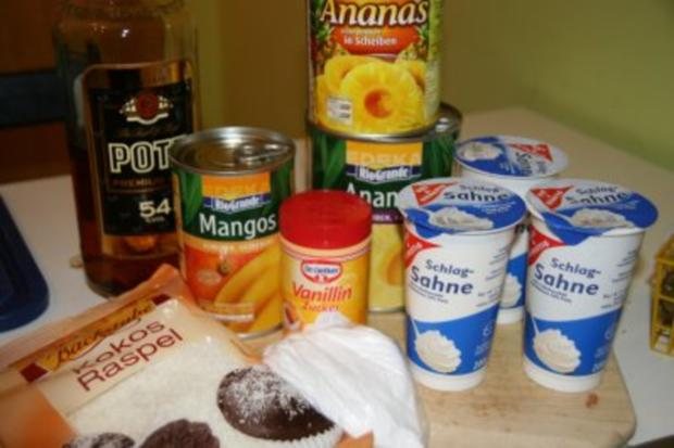 Dessert: Ananas mit Mango-Sahne - Rezept - Bild Nr. 2