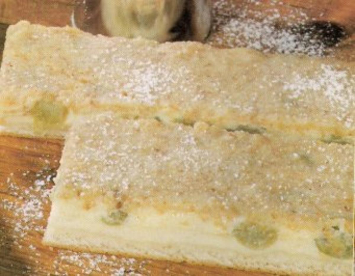 Stachelbeerkuchen Mit Speckfett Glasur Rezept Kochbar De