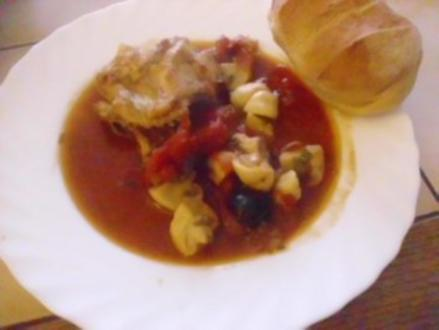 Geschmortes Hähnchen - Rezept