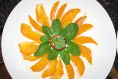 Rezept: Campari-Orangen auf Vanillesoße