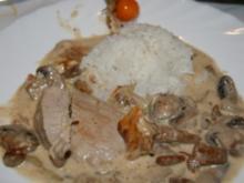 Schwein: Jäger-Pfanne mit Schweinefilet und Pilzen - Rezept