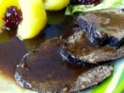 Falsche Rinderlende in Rotweinsoße - Rezept