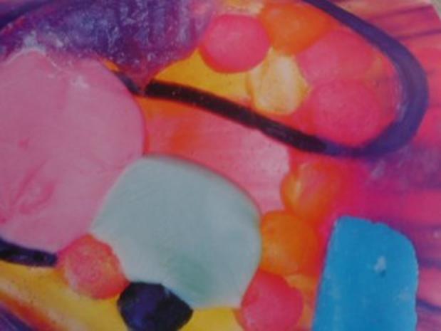 Riesenmuschel mit geschmolzenen Bonbons - Rezept