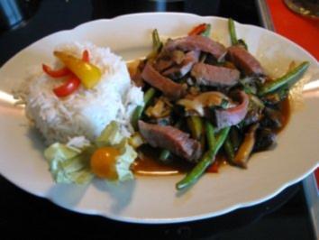 Asiapfanne mit Roastbeef - Rezept