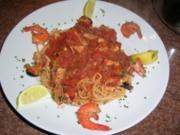 Spaghetti Lunghi Rossi mit Frutti di Mare - einfach nur lecker - - Rezept