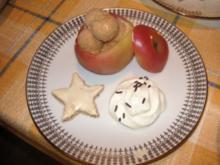 Eis / Halbgefrorenes: Zimteis im Apfel - Rezept