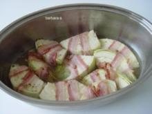 Gemüse-Gerichte: Weißkohlspalten mit Speck umwickelt - Rezept