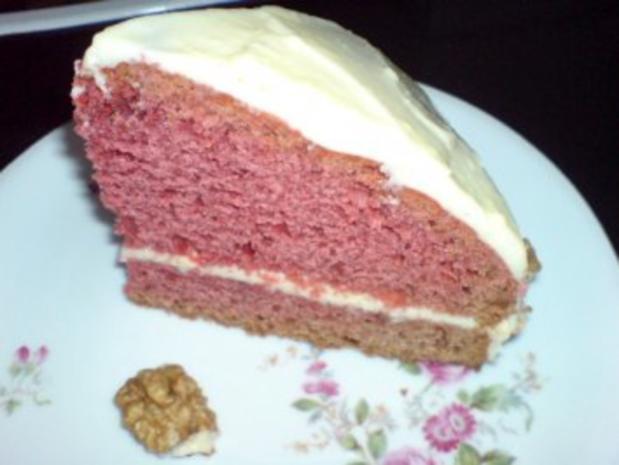Roter Samt  Kuchen -Echt Amerikanisch schmeckt zart wie Samt - Leicht zu backen - Bild eingegeben - Rezept - Bild Nr. 2