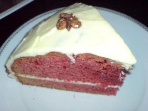 Roter Samt  Kuchen -Echt Amerikanisch schmeckt zart wie Samt - Leicht zu backen - Bild eingegeben - Rezept - Bild Nr. 5