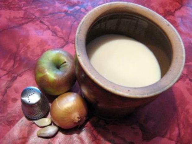 Apfel-Zwiebel-Schmalz - Rezept