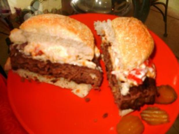 Klassic Pimientokaese und Bacon Burger - Elvis Presley liebte Pimento Kaese auf seinen Hamburgers - Rezept - Bild Nr. 5
