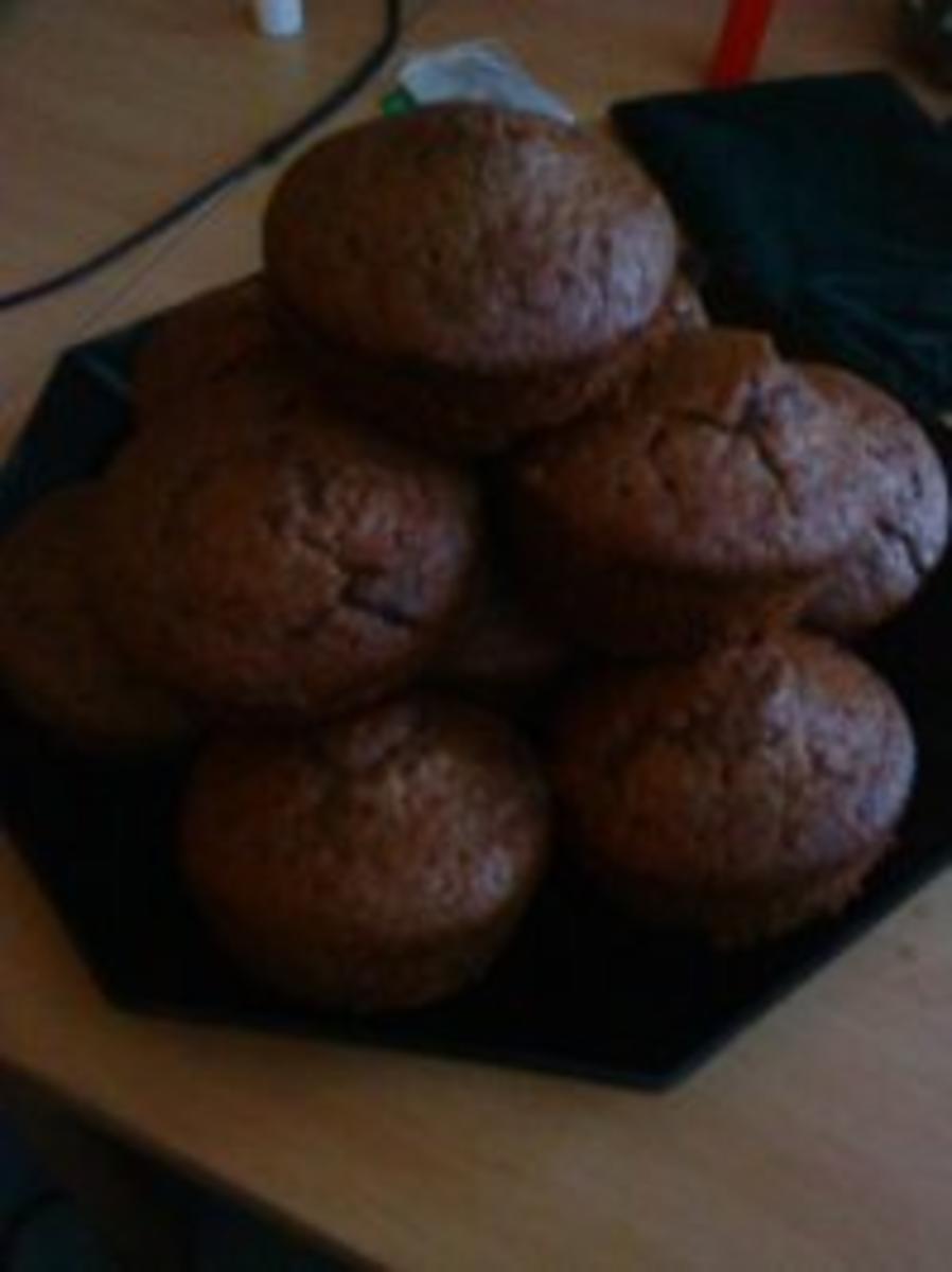Schokoladenmuffins leicht,schnell und lecker! Reicht für 12 Muffins - Rezept Eingereicht von La-Wanda