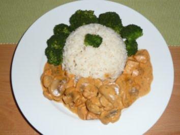 Pilz - Hühnerbrust - Tomatenrahm - Pfanne - Rezept