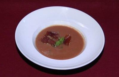 Geeistes Melonen-Tomaten-Süppchen mit Pata Negra (Jessica Boehrs) - Rezept