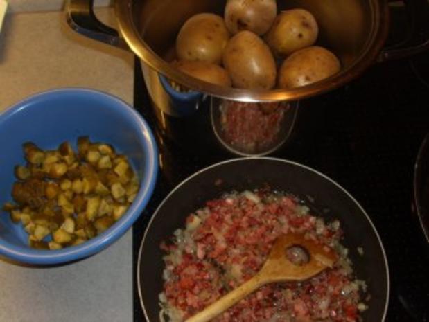 Salate: Kartoffelsalat warm und deftig - Rezept - Bild Nr. 2