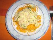 Orangen-Taglioline mit Orangen-Carbonara - Rezept