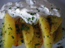 Backed Potatoes mit Mascarpone- Creme - Rezept