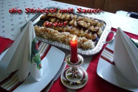 Kartoffelstriezel mit Ananaskraut - Rezept