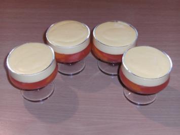 Dessert: Camparigelee mit Orangenmousse - Rezept