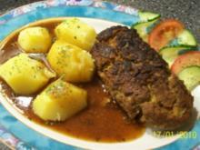 Falscher Hase - Hackbraten -  Hackfleischroulade mit Sauerkraut - Rezept